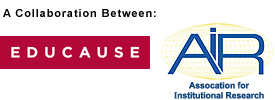 A Collaboration Between EDUCAUSE and AiR (Association for Institutional Research) Logos